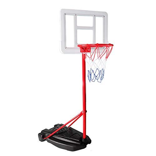 MYHZH Soporte del Aro De Baloncesto Portátil con Altura Ajustable Baloncesto Aro con -Stand para Interiores Exteriores Niños Regalo De Cumpleaños del Juguete