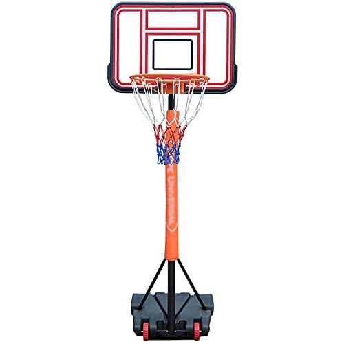portátil Canasta Baloncesto, Juego de Baloncesto con Soporte y 2 Ruedas Soporte de Baloncesto Altura Ajustable para niños/jóvenes/Adolescentes,B