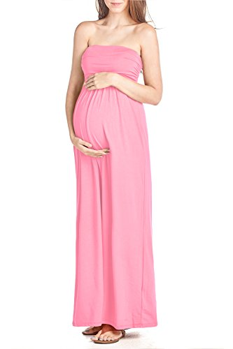 Product Image of the Beachcoco Women's Maternity Comfortable Maxi Tube Dress (XL, Pink)
