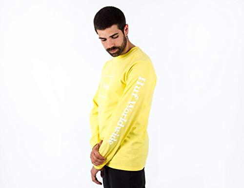 HUF Domestic Longsleeve - Yellow - L