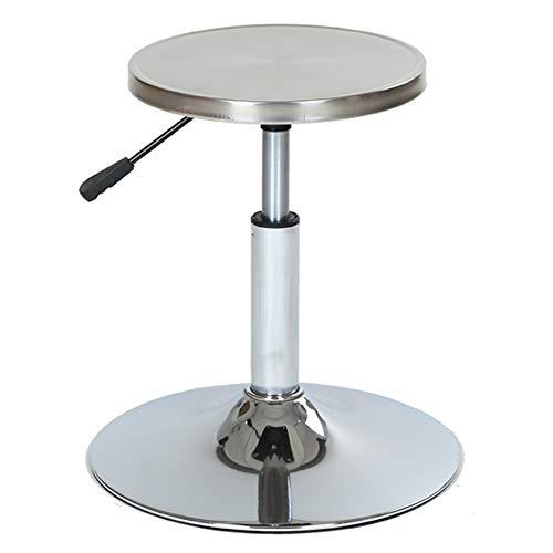 CAIJUN Barhocker Multifunktion Rostfreier Stahl Kann Heben Drehbar Antistatisch Labor Arbeitsplätze, 8 Stile Dual-Use (Farbe : Silber, größe : A)