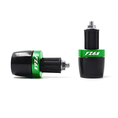"""LIWENCUI- Motorrad 7/8""""Lenkergriffe Griffe Ende Gegengewicht Griff BAR Cap End Plug Slider for Yamaha FZ6N alle Jahre (Color : Green)"""
