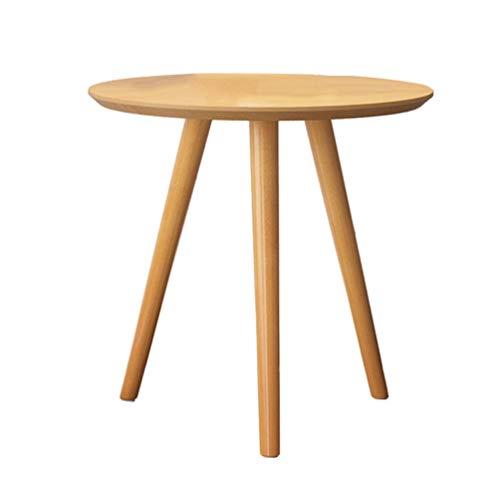Mesa de centro Mini pequeña mesa auxiliar mesa de café pequeño apartamento de centro de madera minimalista mesa de ocio redondo pequeño balcón sofá lado unos pocos pequeña mesa de café Tablas de café