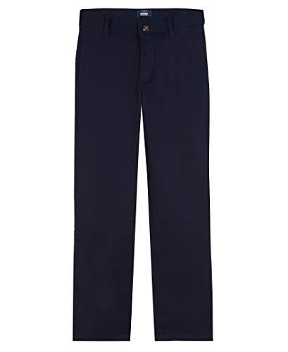 Arrow 1851 Boys Size Aroflex Stretch Twill Flat Front Pants, Navy, 10 Slim