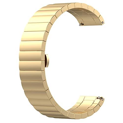 Fawyhr Correa de Reloj de liberación rápida, Reloj de Acero Inoxidable de Acero Inoxidable de Primera Calidad Reemplazo de la Banda Inteligente Muñecas para Hombres Muñequeras