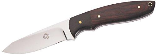 Puma Tec Couteau de Ceinture - Acier AISI 420 - Poli Miroir - Manche en Bois de Cocobolo/ébène - Œillet de Courroie - Fourreau Marron - Multicolore - 20,2 cm - 306209