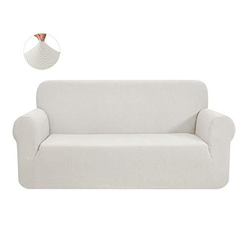 CHUN YI 1-Stück Sofa Überwürfe Sofabezug Jacquard Elastische Stretch Spandex Couchbezug Sofahusse Sofa Abdeckung (Beige, 3-sitzer)