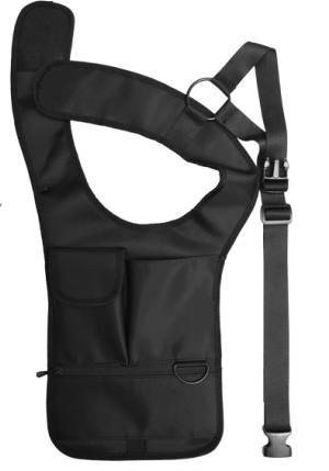 ボディバッグ ホルスター 型 /  ジャケット下に着用 iPad タブレットパスポート 貴重品 収納 身体にフィット