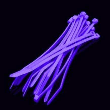 Cables UK 2.5mm x 100mm x 100 Pack Nylon Cable Ties VIOLET