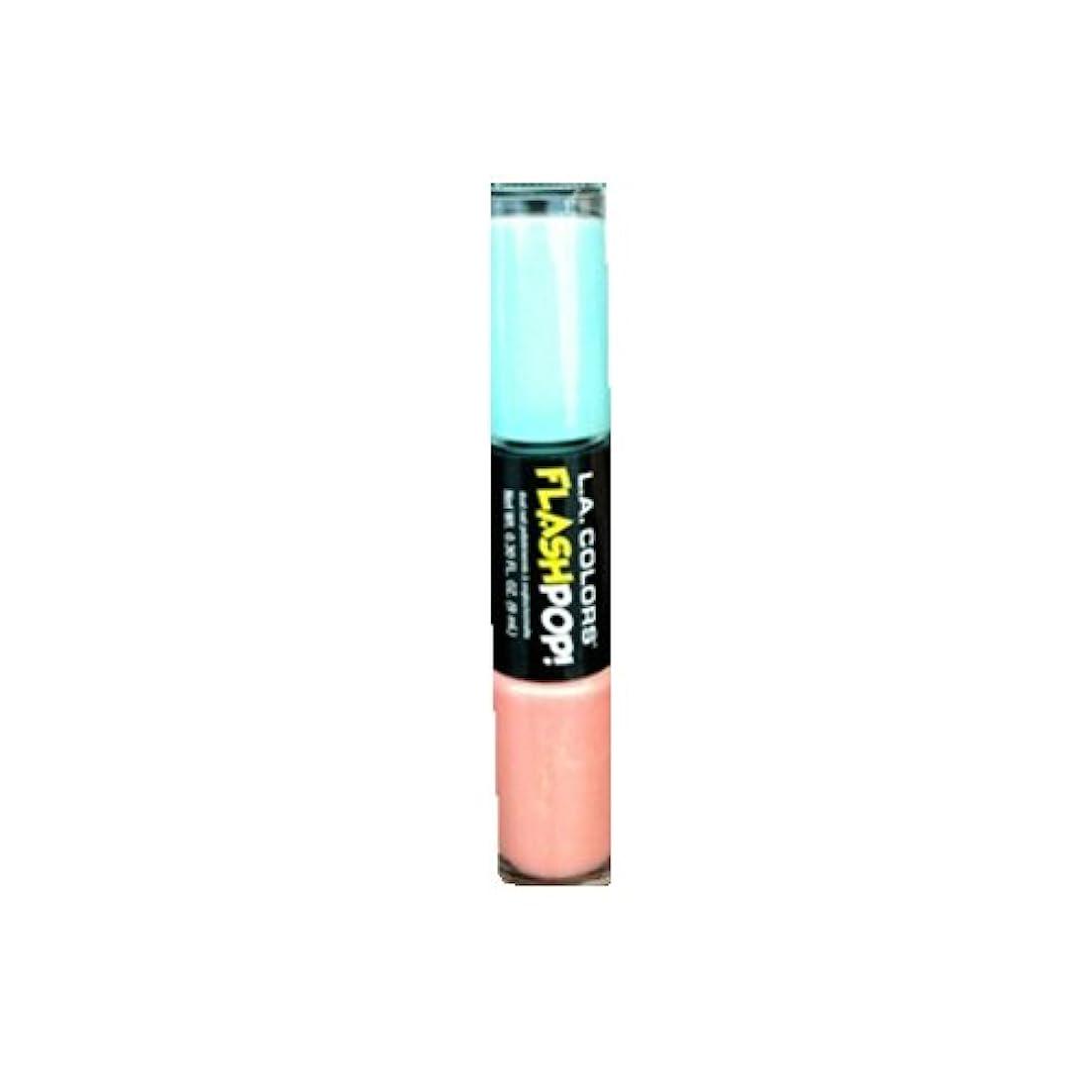 つづり致命的厚いLAカラーズフラッシュポップネイルエナメル994 9ml