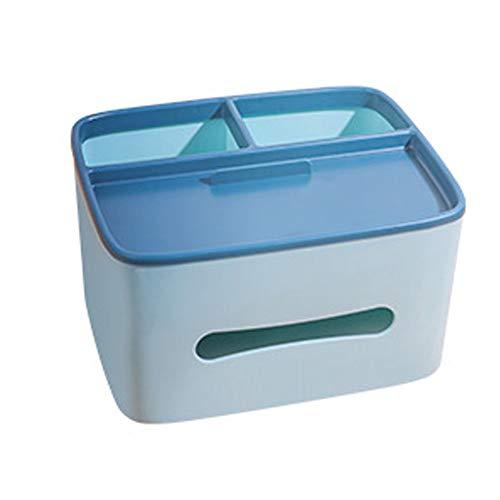 Wesbe 1 caja de plástico para pañuelos de papel, dispensador de papel higiénico, organizador de almacenamiento para casa, coche, oficina
