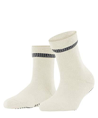 FALKE Damen Hausschuh-Socken Cuddle Pads, Baumwolle Wolle, 1 Paar, Weiß (Off-White 2049), 35-38 (UK 2.5-5 Ι US 5-7.5)