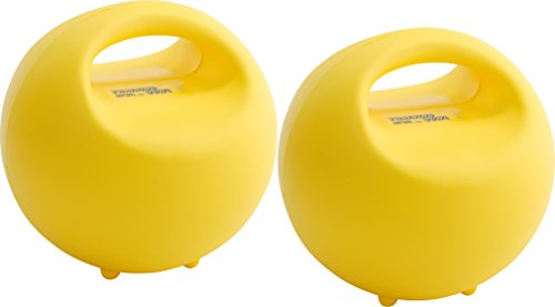 GYMNIC Unisex-Erwachsene Training Bowl Trainingsball-Set Trainingsschale 2-teilig in gelb, Einheitsgröße