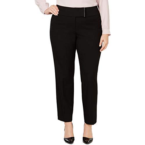 Alfani Womens Plus Stretch Mid-Rise Skinny Pants Black 14W