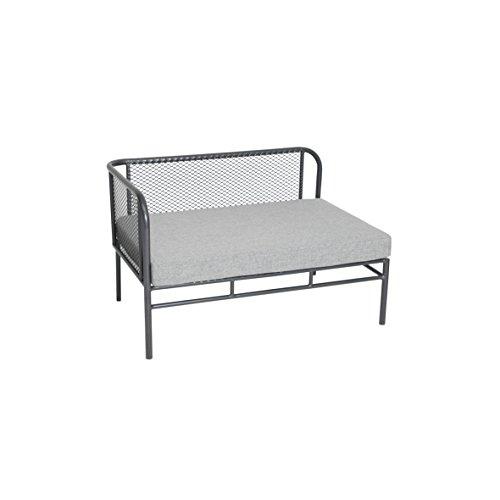 greemotion Loungeset Toulouse eisengrau/grau, Eckbank mit Tisch für In- und Outdoor, Bank mit Rückenverstellung, pflegeleichtes Streckmetallgestell, Sitzelemente einfach umzustellen, ca. 5 Sitzplätze - 4