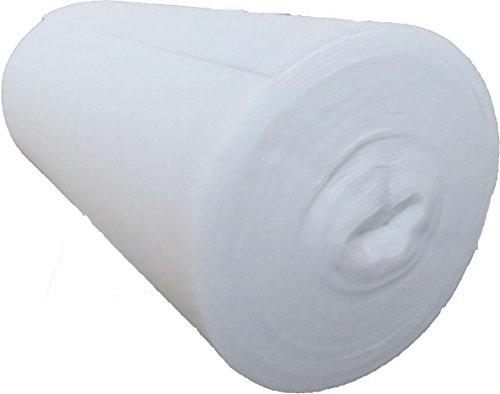 Naaldvilt van 100% polyester 120 g/m2, 1,02 m breed 5,00 m lang, ca. 3 mm dik, 5,10 m2, (EUR 3,62/m2), wasbaar, Öko-Tex Standard 100, productklasse 1, polyestervilt, naaldvlies, patchworkvlies, per meter geschikt als inlegger voor patchworkdekens, spreien, quiltwerk, enz.