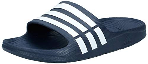 adidas Herren Duramo Dusch- & Badeschuhe, Blau (New Navy/White/New Navy), 43 EU (9 UK)