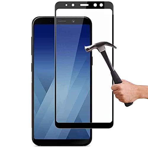 Lapinette Vetro Temperato Integrale Compatibile con Samsung Galaxy A8 2018 - Pellicola Vetro Temperato Galaxy A8 2018 Integrale - 9H Force Glass - Vetro Temperato Copertura Totale