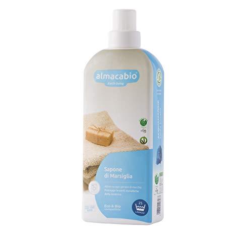 Almacabio Detergente liquido Marsiglia per il bucato in lavatrice e a mano 1L