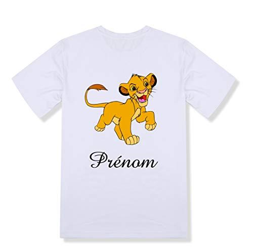 T-shirt enfant personnalisé simba roi lion prénom et taille au choix
