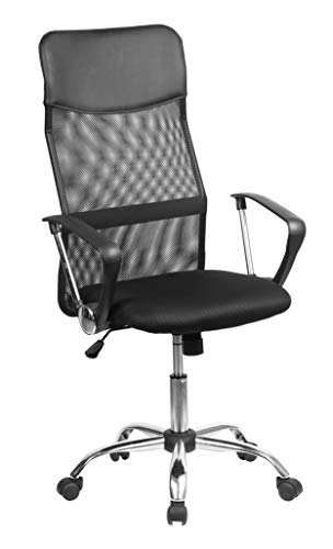 Miroytengo Silla de Oficina Delta elevable Color Negro despacho Estudio Estilo Moderno Mueble 112-12