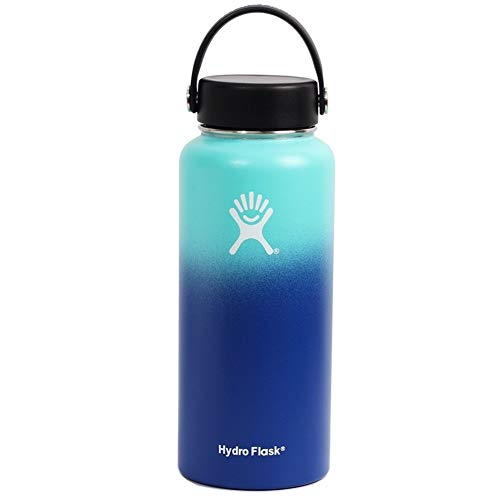 High Quality Cups Hydro Fles Thermal Water Bottle Thermos VSCO Gril Kawaii Fles Sport Vacuum Insulated Wide Mouth Kolf Sticker Deksel Straw 32oz (Color : 4A, Size : 18OZ)