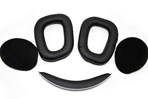 G930 Ohrpolster Stirnband Ersatz Ohrkissen Kompatibel mit Logitech G933 Artemis Spectrum Wireless Gaming-Headset. (G930 Stirnband Ohrpolster)
