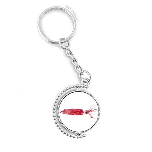 DIYthinker Ocean Fish Rosado Fresco Suave rotativo Titular de la Clave Anillo de la Cadena