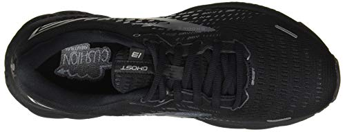 Brooks Ghost 13, Scarpe da Corsa Uomo, Black/Black, 43 EU