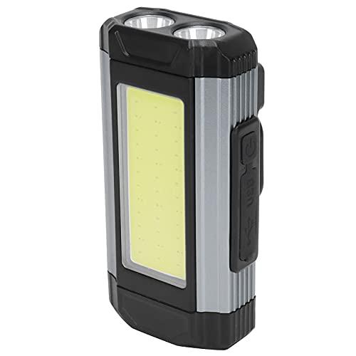 Surebuy Luz de Trabajo, Puerto de Salida USB Duradero a Prueba de Lluvia Luz LED Conveniente con Gancho para emergencias domésticas diarias para Acampar al Aire Libre