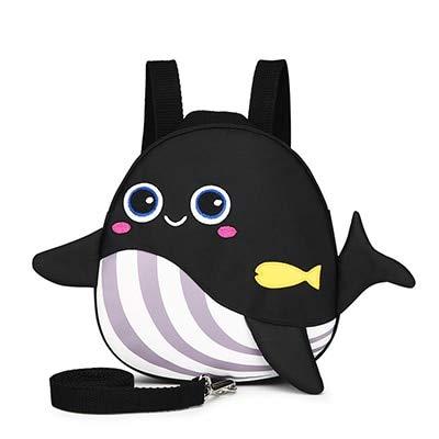 XTYZY Mochila de ballena de dibujos animados lindo Nueva bolsa de bebé anti-perdida Educación de la primera infancia Mochila escolar Kindergarten Niños Snacks Bolsa