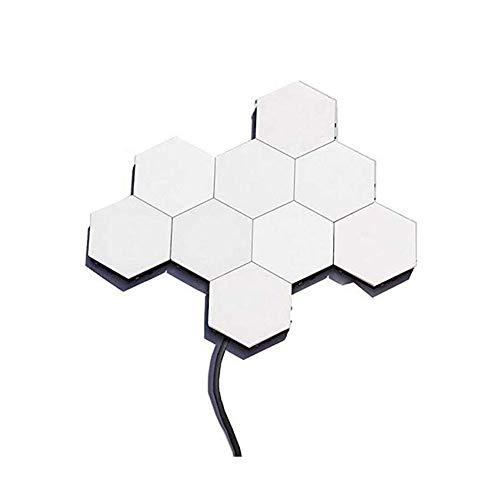 CUANTUM Light Honeycomb Light Touch Sensor Hexagonal Combinación Fondo Luz LED Montaje Toque Luz Táctil