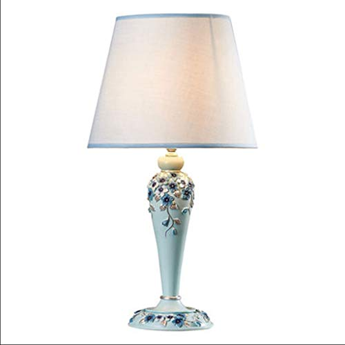 jinyi2016SHOP Lámpara Escritorio Dormitorio, lámpara de Noche, Sala, Moderno, Creativo, Europeo, lámpara de Mesa, botón, Interruptor Lamparilla de Noche (Size : M)