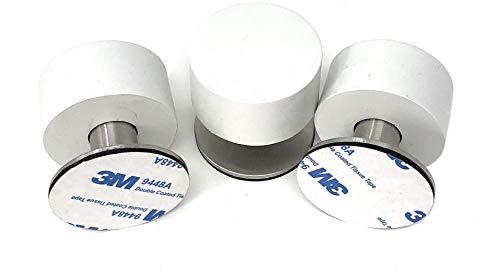 Brunshaw - Tope de puerta de goma (3 unidades, amortiguador de impacto), color blanco