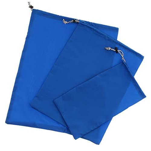 Baoblaze Sac De Rangement Étanche pour Organisateur Bagages De Voyage en Plein Air - Bleu, S M L