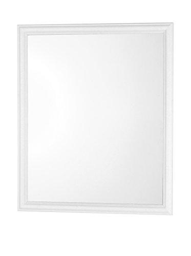 FERIDRAS 332006 Specchio con Cornice, ABS, Bianco, 2x40x50 cm