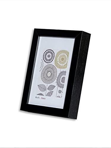 Victor Bilderrahmen Schlemmer 10x15cm in schwarz, moderner Bilderrahmen mit tiefer Leiste (10 x 15 cm, Schwarz)…