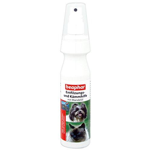 beaphar Entfilzungs- und Kämmhilfe   Pflege für Hunde und Katzen   Entfilzungsspray mit Mandelöl   Spray zum Kämmen von Hunde-Fell   150 ml Sprühflasche