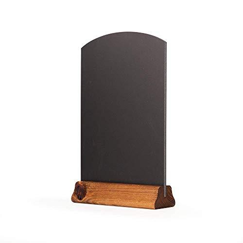 Chalkboards UK Tableaux Noirs avec Socle pour Dessus de Table - Bois - Noir - 31 x 21 x 4 cm