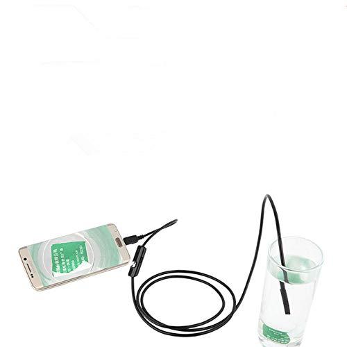 USB-Endoskop, 7mm Fokus Kamera Objektiv 2M Wasserdicht 6 LED Kamera Borescope, HD USB Inspektionskamera