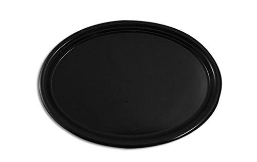 Lot de 2 plateaux ovales antidérapants - Noir