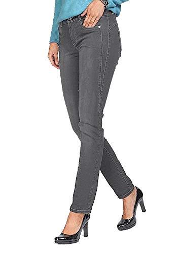 CMK Damen Jeanshose Stretch Shape Jeans Alina (L30) (Grau, 44 (dt. Konfektionsgr.))