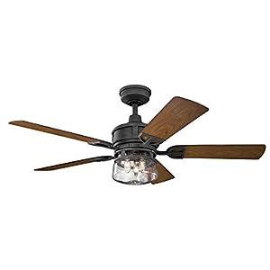 Kichler Lighting 310139DBK Lyndon Patio-52 Ceiling Fan with Light...