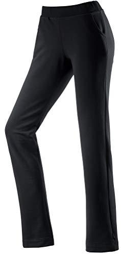 Michaelax-Fashion-Trade Schneider - Damen Wellness-Hose mit Breitbund und elastischer 2:2-Rippe, DEVONW (6571), Größe:46, Farbe:Schwarz (999)