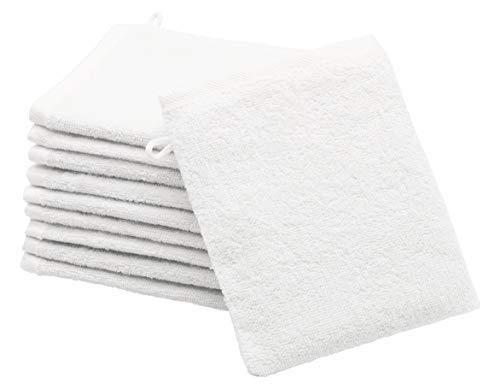 ZOLLNER 10er Set Waschlappen Baumwolle, 16x21 cm, weiß (weitere verfügbar)
