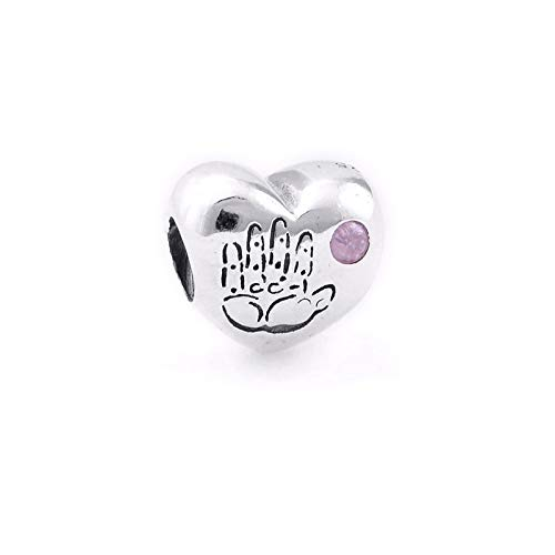 Jewelry Bracelet 925 Pandora Natural Authentic Sterling Silver Beads Baby Girl Pink Cz Heart Charms Fits Original Charms Making Berloques Diy Gifts For Women