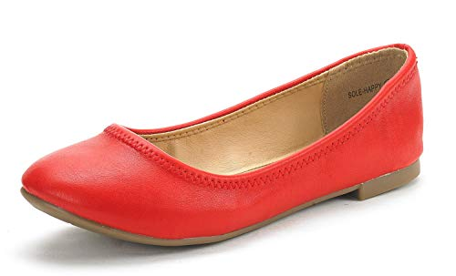 Top 10 best selling list for red leather soft sole flat shoes