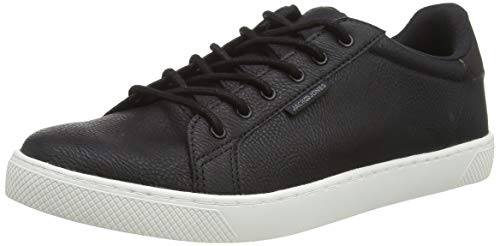 JACK & JONES Herren JFWTRENT PU 19 NOOS Sneaker, Grau (Anthracite Anthracite), 43 EU (8.5 UK)