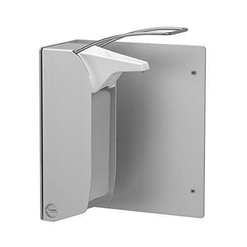 OPHARDT hygiene 290200 ingo-man WP T A Winkelplatte zur Parallelbefestigung von 1000 ml Spendern, Eloxiertes Aluminium, Mattsilber