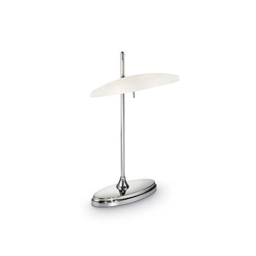 L'Aquila Design Arredamenti Ideal Lux Lampe étude de Table avec Structure métal séjour TL2 Chrome